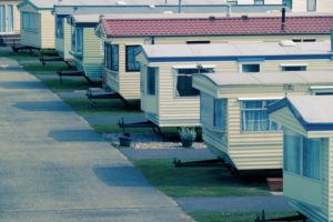 mobile homes in a row